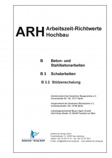 ARH-Tabelle Rahmenschalung, Teilausgabe Stützenschalung