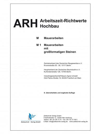 ARH-Tabelle Mauerarbeiten großformatige Steine und WDVS (Download)