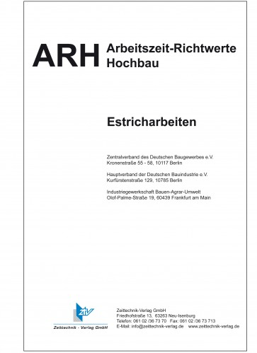 ARH-Tabelle Estricharbeiten (Download)