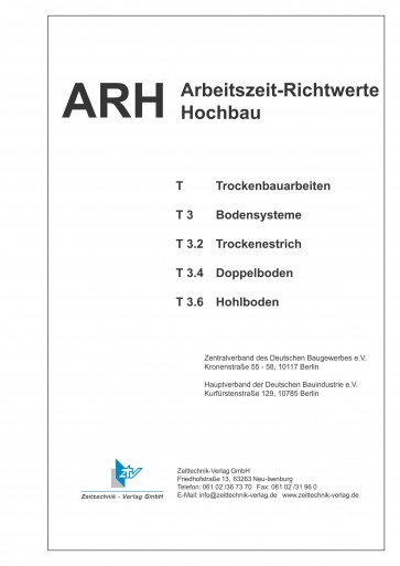 ARH-Tabellen Trockenbau - Teil 3: Bodensysteme (Download)