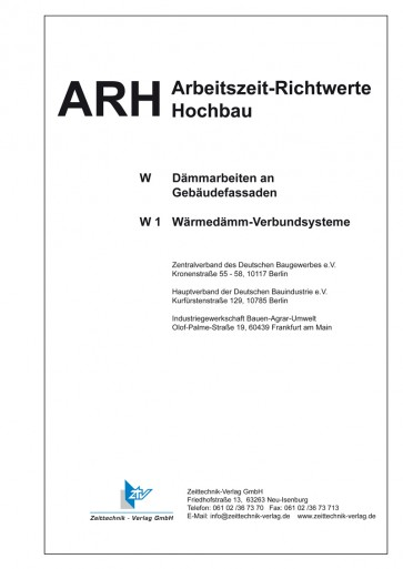 ARH-Tabelle Wärmedämm-Verbundsysteme (Download)