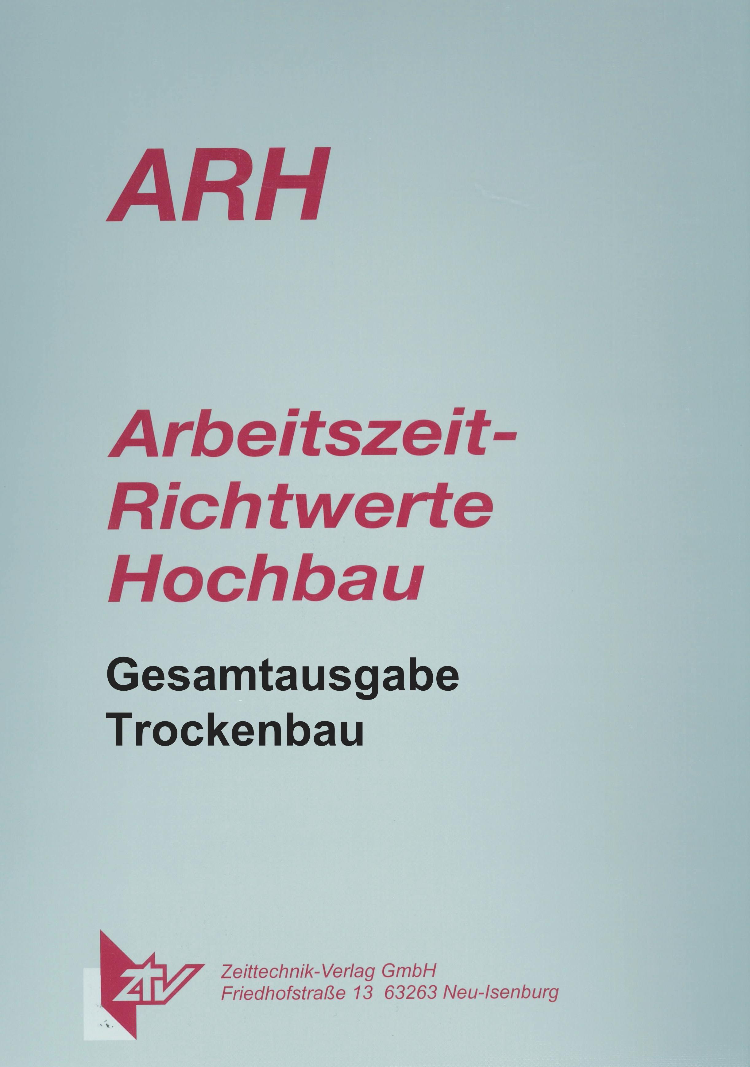 ARH-Tabellen Trockenbau - Gesamtausgabe