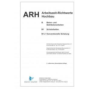 ARH-Tabelle Schalarbeiten,  konventionelle Schalung (Download)