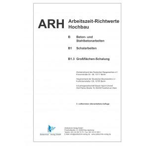 ARH-Tabelle Schalarbeiten,  Großflächen Schalung (Download)