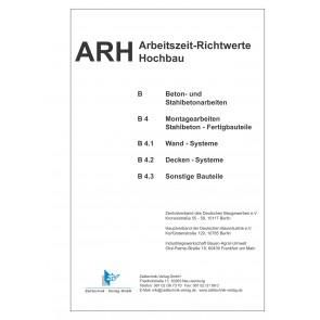 ARH-Tabelle Montagearbeiten Stahlbeton-Fertigteile (Download)