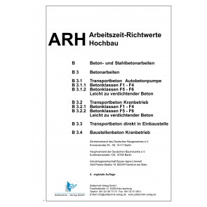 ARH-Tabelle Betonarbeiten (Download)