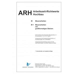 ARH-Tabelle Mauerarbeiten großformatige Steine Teilausgabe Kalksandsteine (Download)
