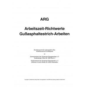 ARG-Tabelle Gußasphaltestrich-Arbeiten