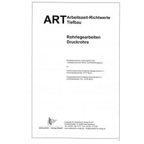 ARH-Tabelle Tiefbau Rohrlegearbeiten Druckrohre