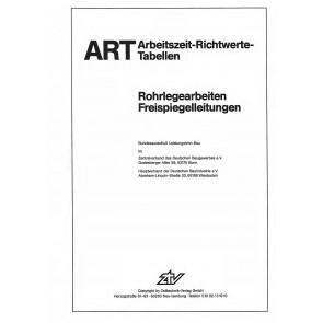 ARH-Tabelle Tiefbau Rohrlegearbeiten Freispiegelleitungen