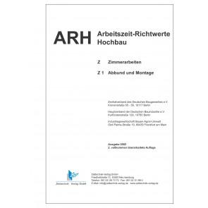 ARH-Tabelle Holzbau - Teil 1: Abbund und Montage (Download)