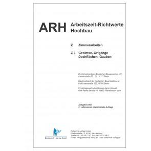 ARH-Tabelle Holzbau - Teil 3: Gesimse, Ortgänge, Gauben (Download)