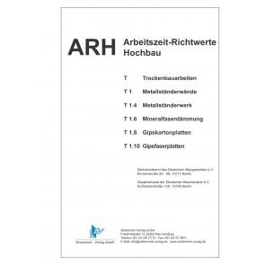 ARH-Tabellen Trockenbau - Teil 1: Metallständerwände (Download)